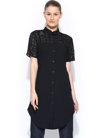 Vero Moda Black Tunic at myntra
