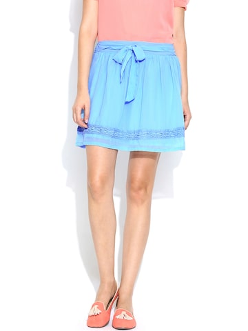 Honey by Pantaloons Blue Flared Skirt at myntra