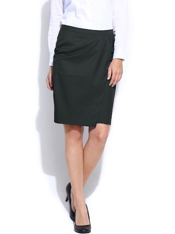 Park Avenue Woman Charcoal Grey Formal Pencil Skirt Park Avenue Skirts at myntra