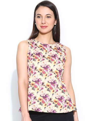 Park Avenue Woman Multicoloured Printed Top at myntra