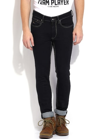 Flying Machine Men Dark Blue Jackson Skinny Fit Jeans at myntra