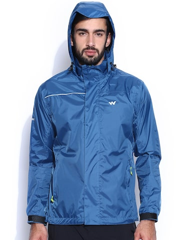 Wildcraft Blue Hooded Rain Jacket at myntra