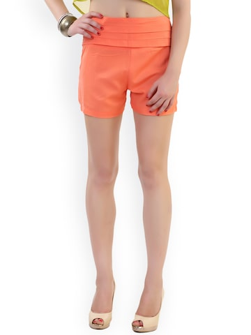 Belle Fille Women Orange Shorts at myntra