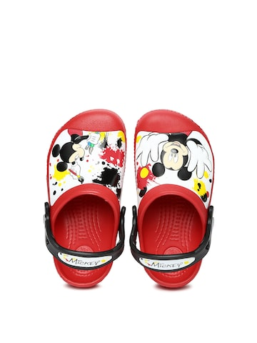 Crocs Kids Red Printed Clogs at myntra