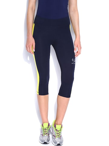 Restless Navy Capris at myntra