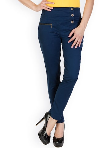 Rider Republic Women Navy Trousers at myntra