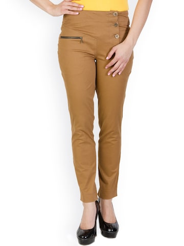 Rider Republic Women Brown Trousers at myntra