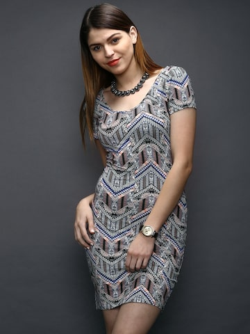 New Look Multicoloured Printed Bodycon Dress New Look Dresses at myntra