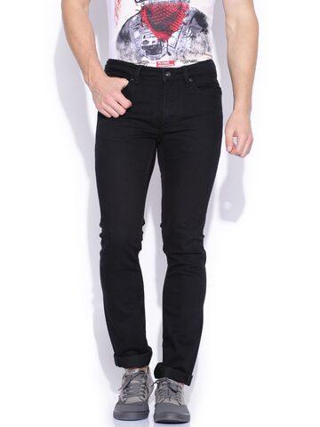 Flying Machine Black Jackson Skinny Fit Jeans at myntra