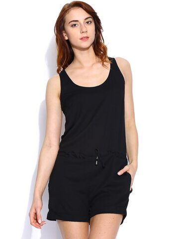 ONLY Black Palysuit at myntra