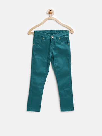 Gini and Jony Girls Green Chino Trousers at myntra