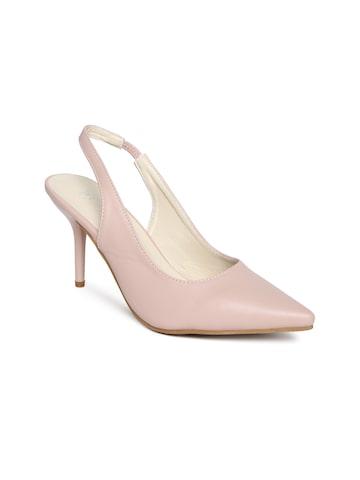 Wet Blue Women Dusty Pink Pointy Slim Heels Wet Blue Heels at myntra