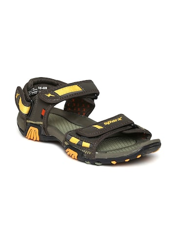 Sparx Men Olive Green Sports Sandals at myntra