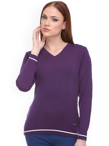 Club York Purple Sweater at myntra