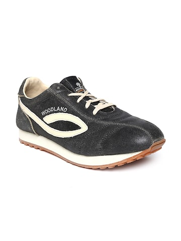 Woodland ProPlanet Men Black Leather Casual Shoes at myntra