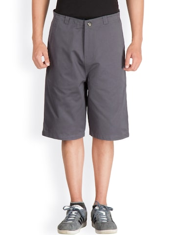 Hypernation Grey Chino Shorts at myntra
