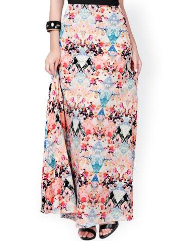Eavan Multicoloured Printed Maxi Skirt at myntra