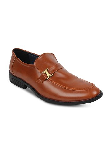 Guava Men Tan Brown Formal Shoes at myntra