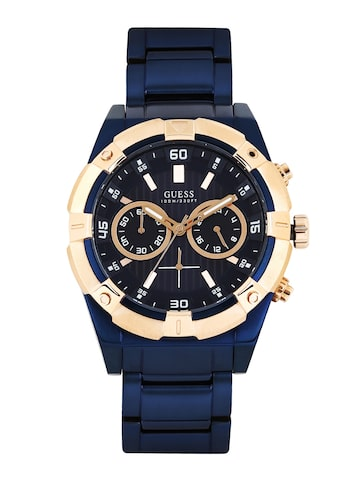 GUESS Men Navy Dial Chronograph Watch W0377G4 at myntra