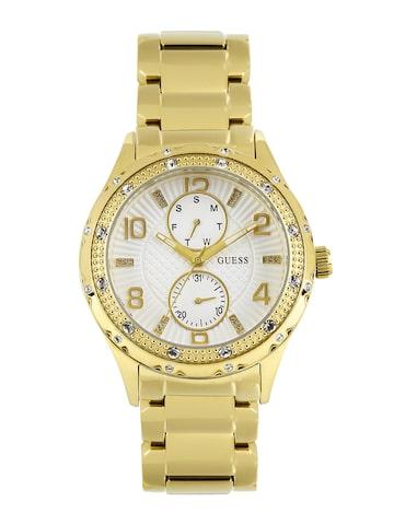 GUESS Women White Dial Watch W0442L2 at myntra