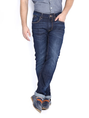 Flying Machine Men Blue Michael Slim Tapered Fit Jeans at myntra