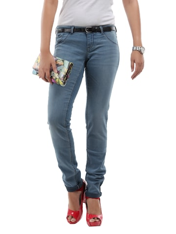 Flying Machine Women Blue Super Skinny Jeggings at myntra