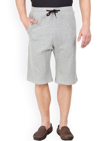 Hypernation Men Grey Shorts at myntra