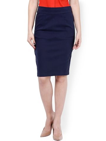buy kaaryah navy pencil skirt 304 apparel for