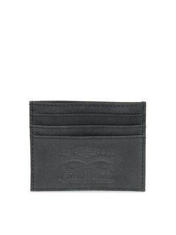 Levis Men Black Leather Card Holder Levis Wallets at myntra