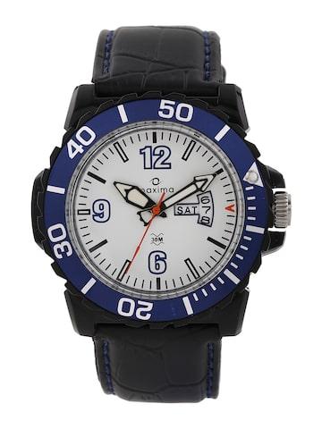 Maxima Men White Dial Watch 29771LPGW