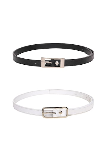 Scarleti Women Set of 2 Belts at myntra