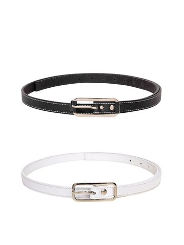 Scarleti Women Set of 2 Leather Belts at myntra