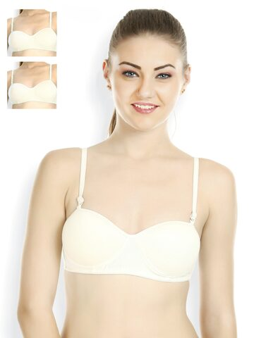 Tweens Pack of 3 Off-White Demi Cup Bras TW1201-OD-3P-OFFW at myntra