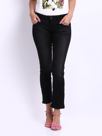 United Colors of Benetton Women Black Slim Fit Jeans at myntra