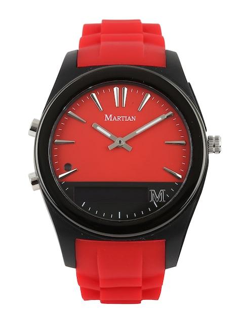 Martian-Unisex-Red-Analogue-&-Digital-Notifier-Smart-Watch