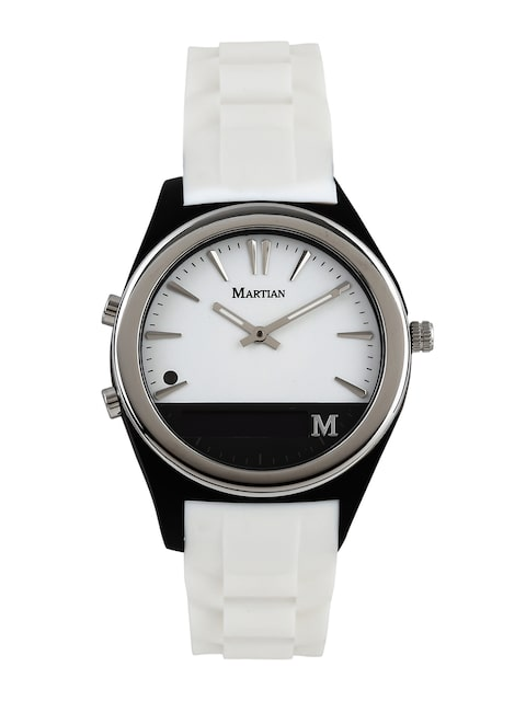 Martian-Unisex-White-Analogue-&-Digital-Notifier-Smart-Watch