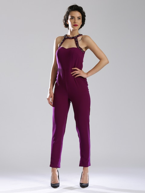 Buy DressBerry Purple Jumpsuit - Jumpsuit for Women | Myntra