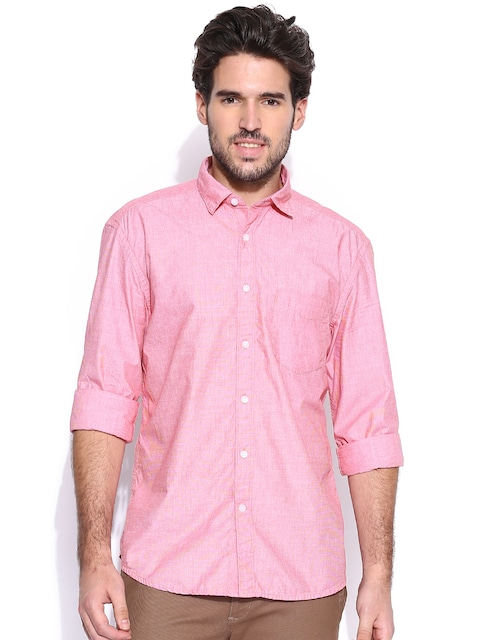 Buy CODE By Lifestyle Pink Casual Shirt - Shirts for Men | Myntra
