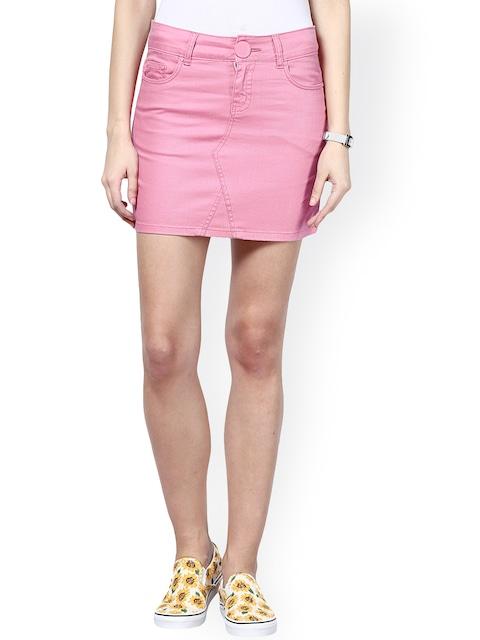 Pink Denim Mini Skirt | Jill Dress