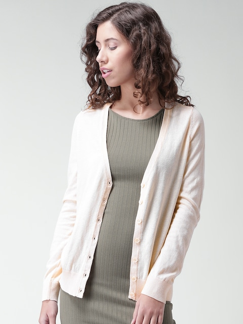 Buy FOREVER 21 Peach Coloured Cardigan - Sweaters for Women   Myntra