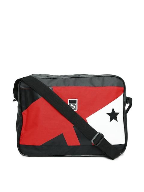 e6586967dadb Buy PUMA Unisex Black   Red Printed Messenger Bag - Messenger Bag for Unisex