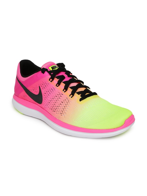 Upto 60% Off On Fitness Fest By Myntra | Nike Men Fluorescent Green & Pink Flex 2016 RN OC Running Shoes @ Rs.4,677