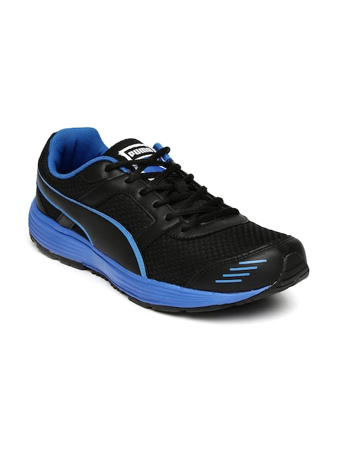 30% - 60% Off On Puma Shoes By Mynta | PUMA Men Black Harbour DP Running Shoes @ Rs.1,499