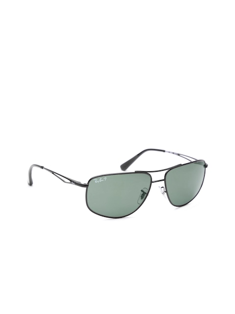 Thoda Bling Chalega!! Upto 70% Off on Accessories Fest   Ray-Ban Men Rectangular Sunglasses By Myntra @ Rs.3,174