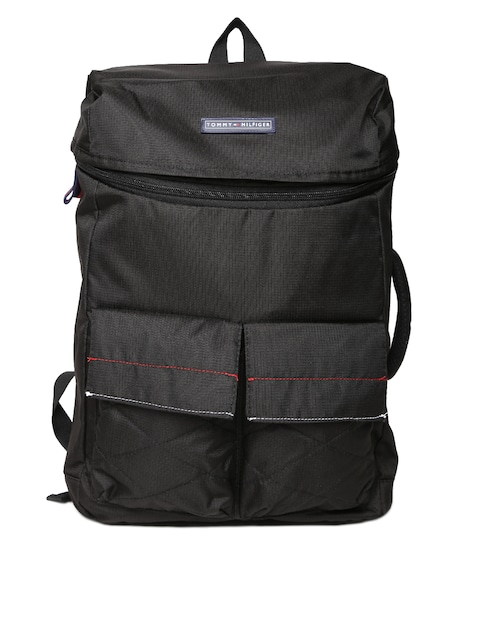Tommy Hilfiger Unisex Black Laptop Backpack low price