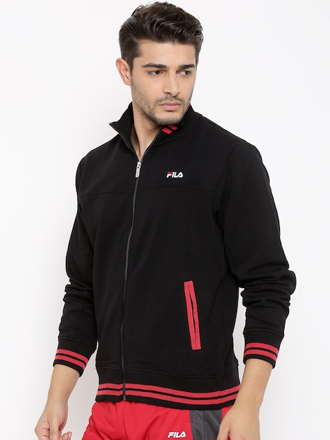 Fila Brand Day!! Upto 35% Off On Men's Wear By Myntra | FILA Black LIMA Sweatshirt @ Rs.1,429