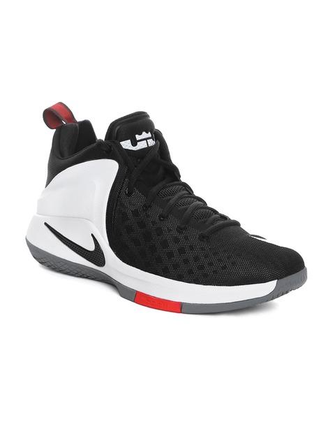 Buy Nike Men Black Amp White Zoom Witness Lebron James Mid