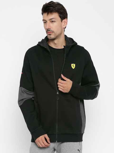 Buy Puma Black Sf Hooded Sweat Jacket Jackets For Men