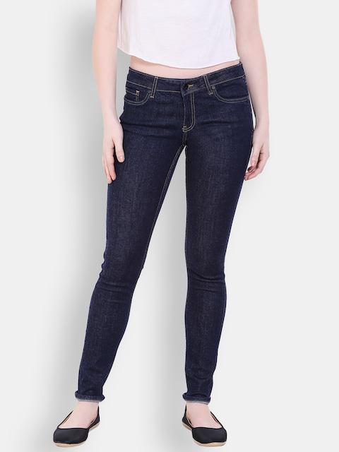 Buy Allen Solly Woman Navy Blue Slim Fit Jeans - Jeans for Women ...