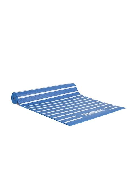 Sports Equipment Launching By Myntra   Reebok Unisex Blue Striped Reversible Yoga Mat @ Rs.1,399